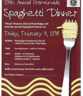 Kiwanis Spaghetti Dinner Flyer