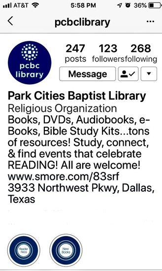 Click on image to go to PCBC Library Instagram account.