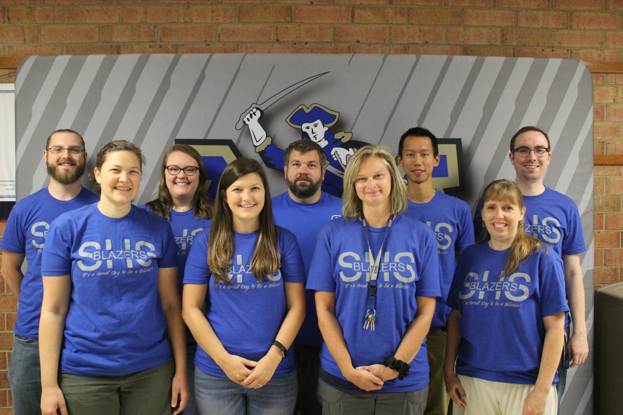 Photo of SHS science department.
