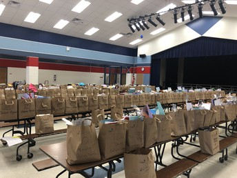 ALL 438 Bags representing our Ethridge Eagles!