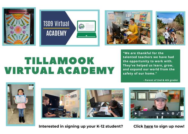 Sign-up for Tillamook Virtual Academy