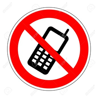No cell phone usage on campus