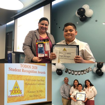 Valley 5th Grader Wins Mathematics Award