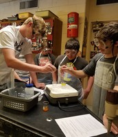 AP Chemistry Lab in Ms. Martin's class