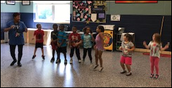 1st Grade Dancing at lunch