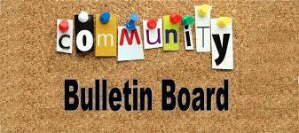 COMMUNITY BULLETIN BOARD