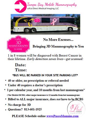 Tampa Bay Mobile Mammography Screening- September 24