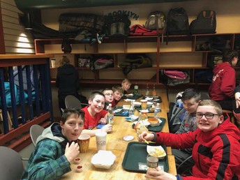 Students enjoying time together at Wachusett Mountain...