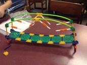 This fabulous bridge was built by Aylin. She is an awesome engineer!