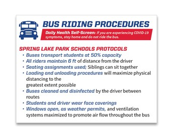Transportation for the 2020-2021 School Year