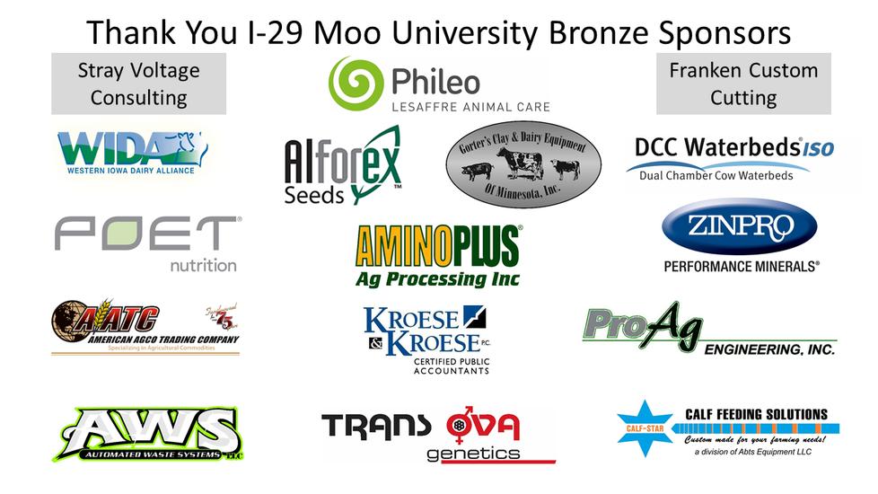 I-29 Moo University Bronze Sponsors