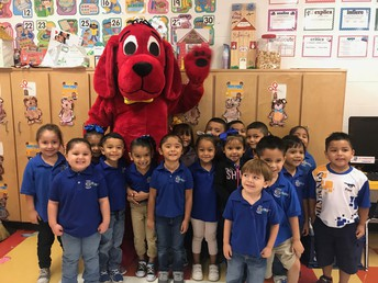 Mrs. Viera's class loved to see Clifford!