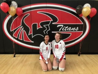 Our 2 Graduating Seniors from Volleyball