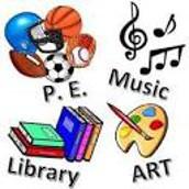 Art, P.E., Music, & Library Update