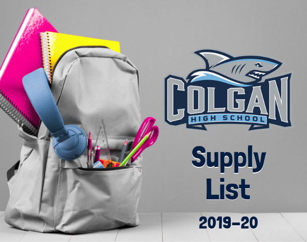 Link to Colgan Supply List for 2019 through 2020
