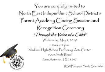 2018-2019 Parent Academy Graduates