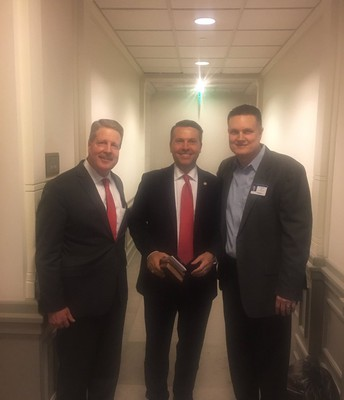 At the Capitol with Rep. Brad Buckley and SBOE member Tom Maynard