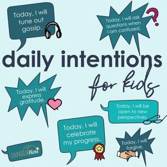 Spotlight on Daily Intentions