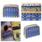 SOLD / Indigo Ikat Beauty Bag - $15
