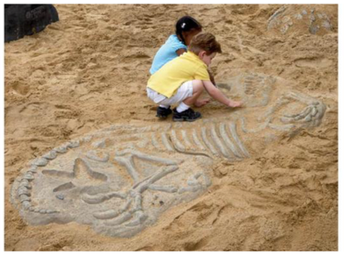 Future example of the dinosaur dig pit!