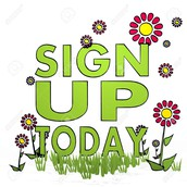 February - Spring Activities sign up