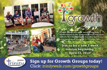 GROWTH GROUPS BIBLE STUDY - STILL ROOM TO JOIN!