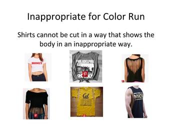 Inappropriate Attire for Color Run