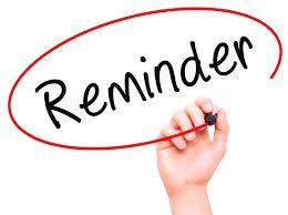 OJRSD Calendar Reminder