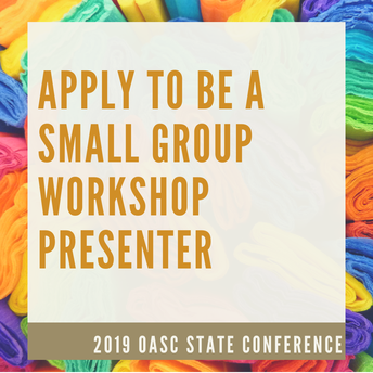 Apply to be a Small Group Workshop Presenter @ State Conference!