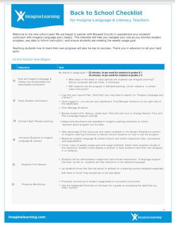 Back to School Teacher Checklist