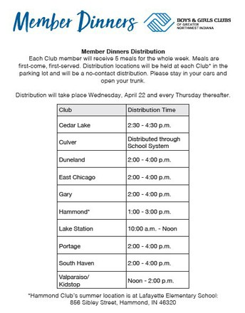 Members Dinners Distribution Flyer