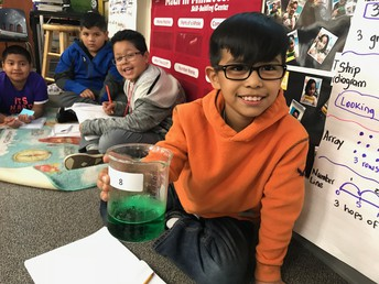 Food Color in Hot Water - Thermal Energy