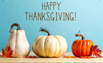 Thanksgiving Break November 23rd-27th.