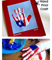 Patriotic hand print