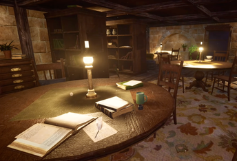 Relax in the Hufflepuff Common Room.
