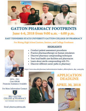 Gatton Pharmacy Footprints Summer Program