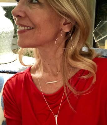 Heart Earrings / Engravable Necklace