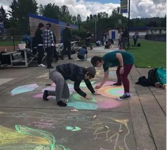 Sidewalk Artists at Warrior Games
