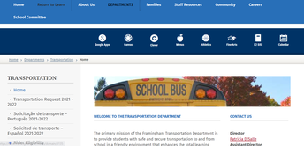 Sign up for Transportation for next year!