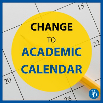 Change to Academic Calendar