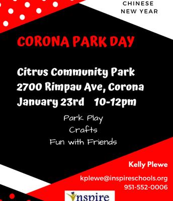 Corona Park Day! 1/23/19