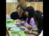 Students at Jinshan in art class!