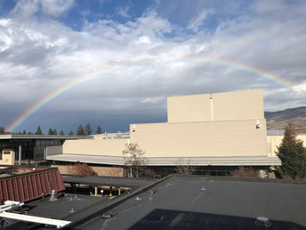 A rainbow over the commons