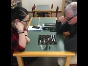Chess Set in the Library