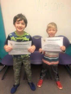 Simon L. and Casey R. are moving on to the local spelling bee