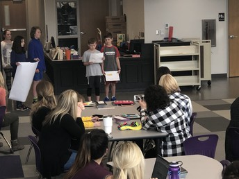 Walker EAST Students Presented their Projects to the Walker Teachers
