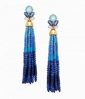 Iris Tassel Earrings