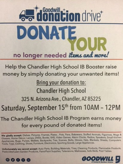 IB Booster Donation Flyer