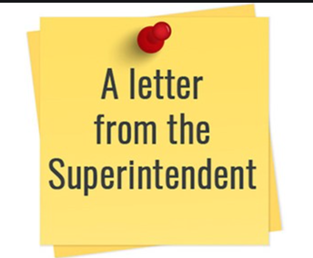 Letter from our Superintendent Dr. Clark- January 8th