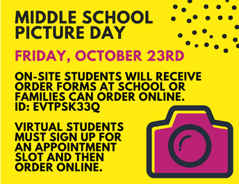 Picture Day is Coming October 23rd!